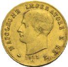 Photo numismatique  MONNAIES MODERNES FRANÇAISES NAPOLEON Ier, roi d'Italie (1805-1814)  40 lire or, Milan 1813.