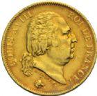 Photo numismatique  MONNAIES MODERNES FRANÇAISES LOUIS XVIII, 2e restauration (8 juillet 1815-16 septembre 1824)  40 francs or, Perpignan 1816.
