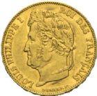 Photo numismatique  MONNAIES MODERNES FRANÇAISES LOUIS-PHILIPPE Ier (9 août 1830-24 février 1848)  20 francs or, Paris 1848.
