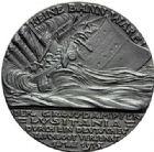 Photo numismatique  MEDAILLES MÉDAILLES MEDAILLES SATIRIQUES ALLEMANDES Médailles de Karl Goetz Naufrage du Lusitania, 7 mai 1915. Die Torpedierung der Lusitania.