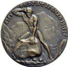 Photo numismatique  MEDAILLES MÉDAILLES MEDAILLES SATIRIQUES ALLEMANDES Médailles de Karl Goetz Général Cadorna, 1915-1916. Sisyphos am Isonzo.