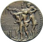 Photo numismatique  MEDAILLES MÉDAILLES MEDAILLES SATIRIQUES ALLEMANDES Médailles de Karl Goetz Départ de Clemenceau, 17 janvier 1920. Clemenceau Abschied.