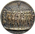 Photo numismatique  MEDAILLES MEDAILLES MEDAILLES SATIRIQUES ALLEMANDES Médailles de Karl Goetz 14 morts à Essen, 31 mars 1923. Rütlischwur in Essen.