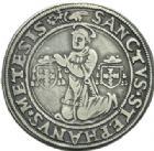 Photo numismatique  MONNAIES BARONNIALES Evêché de METZ ROBERT de Lenoncourt (1551-1555) Demi thaler, Vic-sur-Seille (1551).