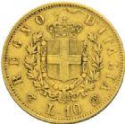 Photo numismatique  MONNAIES MONNAIES DU MONDE ITALIE SAVOIE-SARDAIGNE, Victor Emmanuel II, roi d'Italie (1861-1878) 10 lire or, Turin 1863.