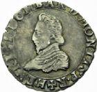 Photo numismatique  MONNAIES BARONNIALES Principauté des DOMBES HENRI II de Montpensier (1592-1608) 1/2 teston, 1606.