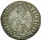 Photo numismatique  MONNAIES BARONNIALES Cité de METZ (Fin XVe - début XVIe siècle) Gros au saint Etienne agenouillé.