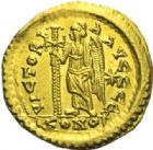 Photo numismatique  MONNAIES EMPIRE BYZANTIN LEON Ier (457-474)  Solidus, Constantinople.