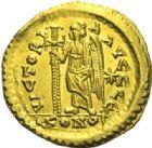 Photo numismatique  MONNAIES EMPIRE BYZANTIN LEON Ier (457-474)  Solidus, Constantinople.