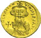 Photo numismatique  MONNAIES EMPIRE BYZANTIN CONSTANS II (641-668)  Solidus léger, Constantinople.