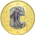 Photo numismatique  MONNAIES MODERNES FRANÇAISES 5e REPUBLIQUE (Depuis le 4 octobre 1958)  50 euro 2006 or, 25e anniversaire de l'abolition de la peine de mort.