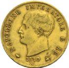 Photo numismatique  MONNAIES MODERNES FRANÇAISES NAPOLEON Ier, roi d'Italie (1805-1814)  40 lire or, Milan 1810.
