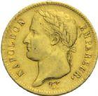 Photo numismatique  MONNAIES MODERNES FRANÇAISES NAPOLEON Ier, empereur (18 mai 1804- 6 avril 1814)  40 francs or, Paris 1811.