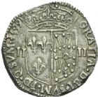 Photo numismatique  MONNAIES ROYALES FRANCAISES HENRI IV (2 août 1589-14 mai 1610)  1/4 d'écu de Navarre, Saint-Palais 1599.