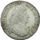 Photo numismatique  MONNAIES ROYALES FRANCAISES LOUIS XIV (14 mai 1643-1er septembre 1715)  1/2 écu aux palmes, La Rochelle 1693.