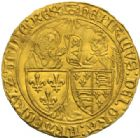 Photo numismatique  MONNAIES ROYALES FRANCAISES HENRI VI, roi de France et d'Angleterre (31 octobre 1422–19 octobre 1453)  Salut d'or, Rouen.