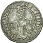 Photo numismatique  MONNAIES BARONNIALES Cité de METZ (Fin XIVe - début XVe siècle)  Gros au saint Etienne agenouillé.