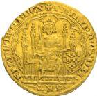 Photo numismatique  MONNAIES ROYALES FRANCAISES PHILIPPE VI DE VALOIS(1er avril 1328-22 août 1350)  Ecu d'or à la chaise, 1ère émission, 1er janvier 1337.