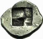 Photo numismatique  MONNAIES GRECE ANTIQUE GAULE Type du trésor d'Auriol (Ve siècle) Obole milésiaque (490-470).