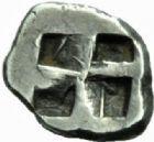 Photo numismatique  MONNAIES GRECE ANTIQUE GAULE Type du trésor d'Auriol (Ve siècle) Hémiobole milésiaque (490-470).