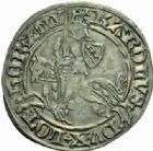 Photo numismatique  MONNAIES BARONNIALES Duché de LORRAINE CHARLES II (1390-1431) Gros au cavalier, Nancy.