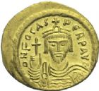 Photo numismatique  MONNAIES EMPIRE BYZANTIN PHOCAS (602-610)  Solidus or, Constantinople.