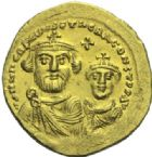 Photo numismatique  MONNAIES EMPIRE BYZANTIN HERACLIUS et HERACLIUS CONSTANTIN (613-638)  Solidus or, Constantinople.