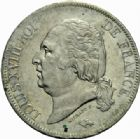 Photo numismatique  MONNAIES MODERNES FRANÇAISES LOUIS XVIII, 2e restauration (8 juillet 1815-16 septembre 1824)  5 francs, Rouen 1817.