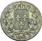 Photo numismatique  MONNAIES MODERNES FRANÇAISES LOUIS XVIII, 2e restauration (8 juillet 1815-16 septembre 1824)  5 francs, Rouen 1819.