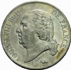 Photo numismatique  MONNAIES MODERNES FRANÇAISES LOUIS XVIII, 2e restauration (8 juillet 1815-16 septembre 1824)  5 francs, Paris 1822.