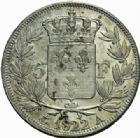Photo numismatique  MONNAIES MODERNES FRANÇAISES LOUIS XVIII, 2e restauration (8 juillet 1815-16 septembre 1824)  5 francs, Paris 1822.