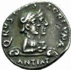 Photo numismatique  MONNAIES EMPIRE ROMAIN OCTAVE-AUGUSTE. (Empereur en 29 - Auguste 27 av.-14 ap. JC)  Denier au nom de Rustius.