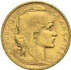 Photo numismatique  MONNAIES MODERNES FRANÇAISES 3ème REPUBLIQUE (4 septembre 1870-10 juillet 1940)  20 francs or, 1906.