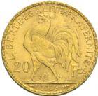Photo numismatique  MONNAIES MODERNES FRANÇAISES 3e REPUBLIQUE (4 septembre 1870-10 juillet1940)  20 francs or, 1906.