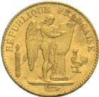 Photo numismatique  MONNAIES MODERNES FRANÇAISES 3ème REPUBLIQUE (4 septembre 1870-10 juillet1940)  20 francs or, Paris 1893.