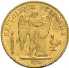 Photo numismatique  MONNAIES MODERNES FRANÇAISES 3e REPUBLIQUE (4 septembre 1870-10 juillet1940)  20 francs or, Paris 1893.