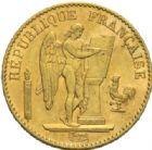 Photo numismatique  MONNAIES MODERNES FRANÇAISES 3e REPUBLIQUE (4 septembre 1870-10 juillet1940)  20 francs or, Paris 1889.