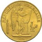 Photo numismatique  MONNAIES MODERNES FRANÇAISES 3e REPUBLIQUE (4 septembre 1870-10 juillet1940)  20 francs or, Paris 1874.