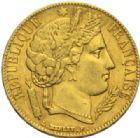 Photo numismatique  MONNAIES MODERNES FRANÇAISES 2e REPUBLIQUE (24 février 1848-2 décembre 1852)  20 francs or, Paris 1851.