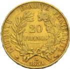 Photo numismatique  MONNAIES MODERNES FRANÇAISES 2ème RÉPUBLIQUE (24 février 1848-2 décembre 1852)  20 francs or, Paris 1851.