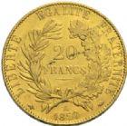 Photo numismatique  MONNAIES MODERNES FRANÇAISES 2ème RÉPUBLIQUE (24 février 1848-2 décembre 1852)  20 francs or, Paris 1850.