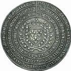 Photo numismatique  ARCHIVES VENTE 2016 -24 MAI MÉDAILLES ARTISTIQUES CHARLES VII (30 octobre 1422-22 juillet 1461)  1- Médaille en argent (1455), commémorant l'expulsion des Anglais en 1451. (Type avec Ferro pacem et Regna patris).