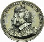 Photo numismatique  ARCHIVES VENTE 2016 -24 MAI MEDAILLES ARTISTIQUES HENRI IV (2 août 1589-14 mai 1610)  2- Médaille en argent pour la naissance du dauphin, le 27 septembre 1601 à Fontainebleau, par Nicolas Guinier.