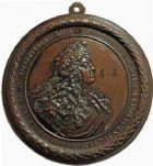 Photo numismatique  ARCHIVES VENTE 2016 -24 MAI MÉDAILLES ARTISTIQUES LOUIS XIV (14 mai 1643-1er septembre 1715)  3- Médaillon uniface en fonte, buste de Louis XIV par Francesco Bertinetti dit Bertinet.