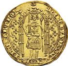 Photo numismatique  ARCHIVES VENTE 2016 -6 juin ROYALES FRANCAISES CHARLES V (8 avril 1364-16 septembre 1380)  1- Franc d'or à pied (20 avril 1365).