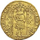 Photo numismatique  ARCHIVES VENTE 2016 -6 juin ROYALES FRANCAISES CHARLES V (8 avril 1364-16 septembre 1380)  2- Franc d'or à pied (20 avril 1365).