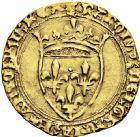 Photo numismatique  ARCHIVES VENTE 2016 -6 juin ROYALES FRANCAISES CHARLES VII (30 octobre 1422-22 juillet 1461)  3- Ecu d'or dit «écu vieux», 3ème émission (août 1424), Montpellier.