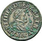 Photo numismatique  ARCHIVES VENTE 2016 -6 juin ROYALES FRANCAISES HENRI IV (2 août 1589-14 mai 1610)  6- 1/4 d'écu de Navarre doré, Bayonne 1603 -double tournois, Paris 1598.