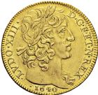 Photo numismatique  ARCHIVES VENTE 2016 -6 juin ROYALES FRANCAISES LOUIS XIII (16 mai 1610-14 mai 1643)  7- Double louis d'or à la mèche courte avec LUDO, Moulin de Paris 1640.