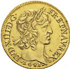 Photo numismatique  ARCHIVES VENTE 2016 -6 juin ROYALES FRANCAISES LOUIS XIII (16 mai 1610-14 mai 1643)  8- Louis d'or à la mèche courte, Paris 1641.